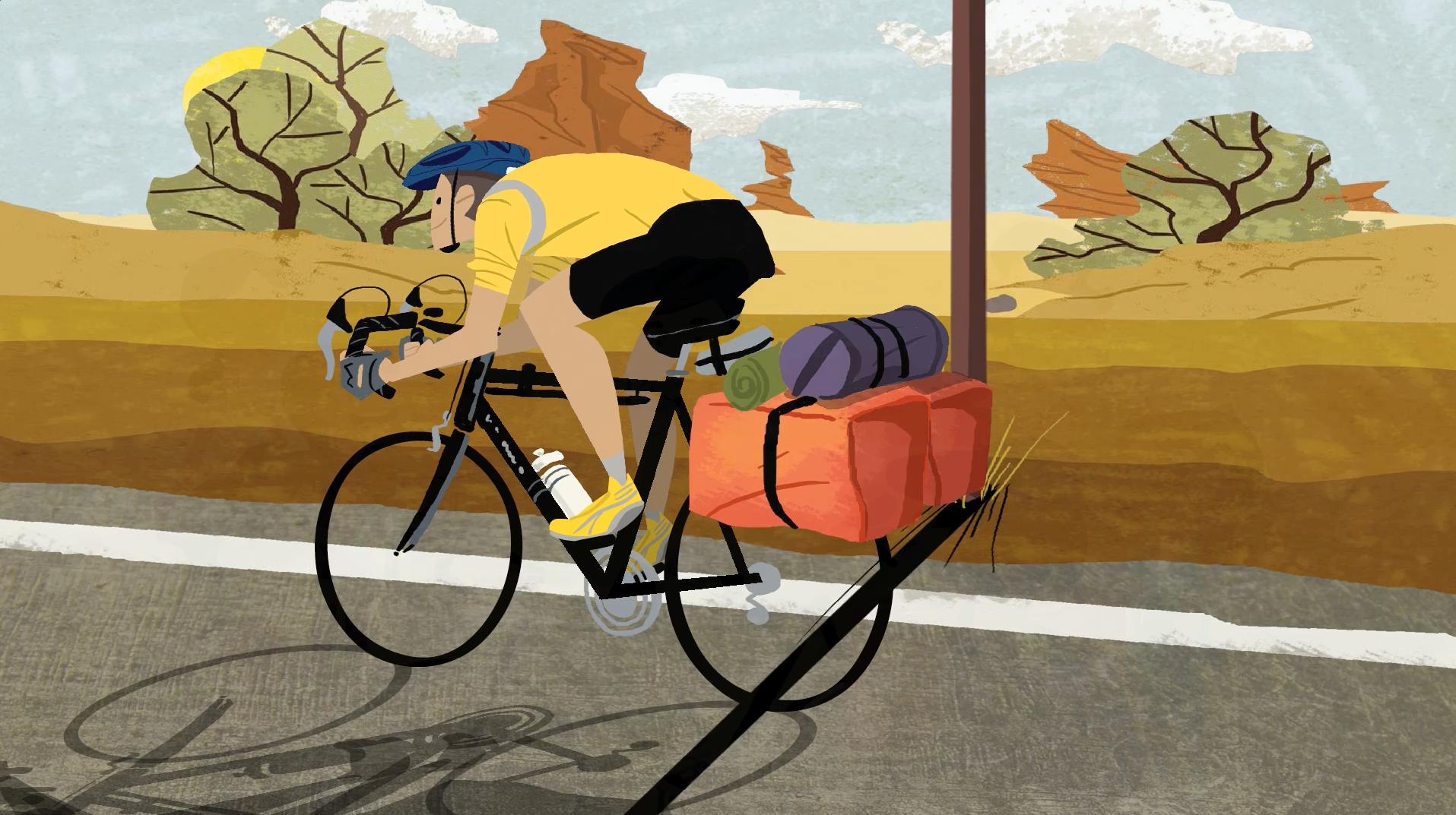 Herrington on bike
