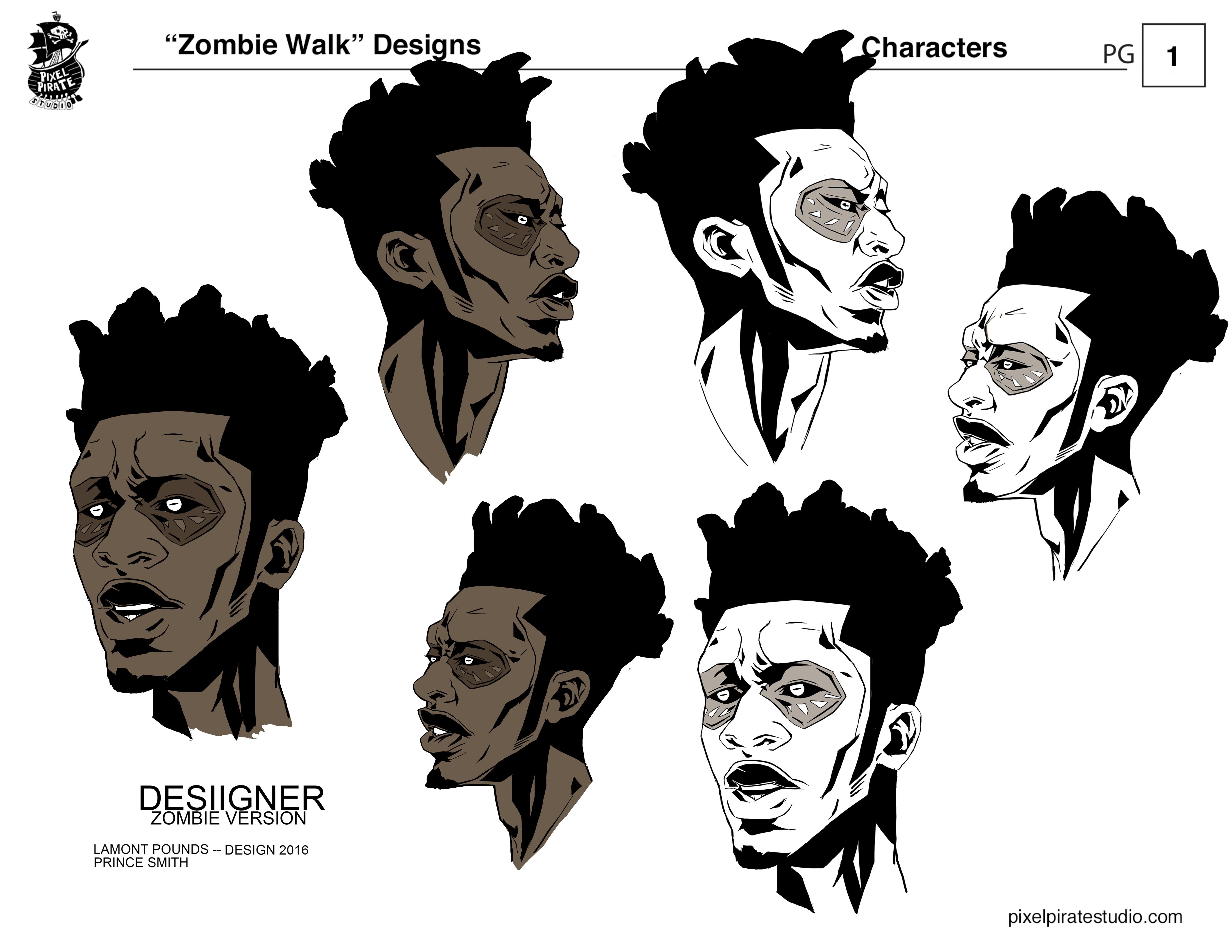 Desiigner zombie face design